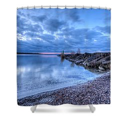 Willow Bay Shower Curtain by Everet Regal
