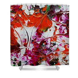 Wilted Flowers Shower Curtain by Donna Blackhall