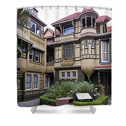 Winchester House - Door To Nowhere Shower Curtain by Daniel Hagerman