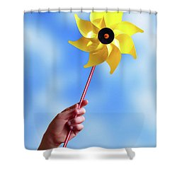 Windmill Shower Curtain by Carlos Caetano