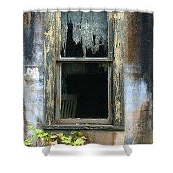 Window In Old Wall Shower Curtain by Jill Battaglia
