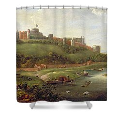 Windsor Castle Shower Curtain by Hendrick Danckerts