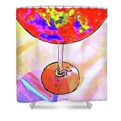 Wine Perpective Shower Curtain by Joan  Minchak