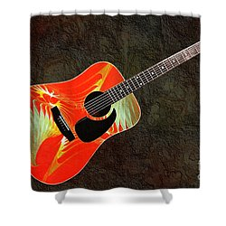 Wings Of Paradise Abstract Guitar Shower Curtain by Andee Design