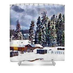 Winter Seclusion Shower Curtain by Jeff Kolker