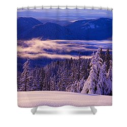 Winter Snow, Cascade Range, Oregon, Usa Shower Curtain by Craig Tuttle