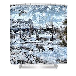 Winter Wonderland Shower Curtain by Lourry Legarde