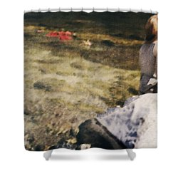 Woman In A River Shower Curtain by Joana Kruse