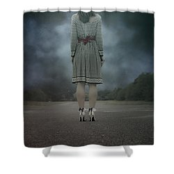 Woman On Street Shower Curtain by Joana Kruse