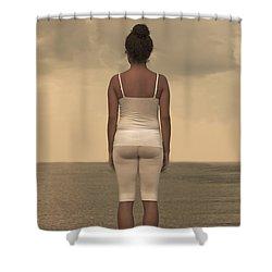 Woman On The Beach Shower Curtain by Joana Kruse