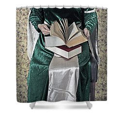 Woman With A Book Shower Curtain by Joana Kruse