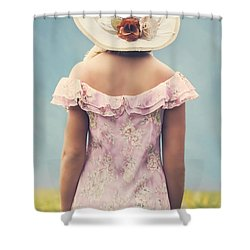 Woman With Hat Shower Curtain by Joana Kruse