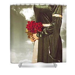 Woman With Roses Shower Curtain by Joana Kruse