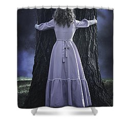 Woman With Trunk Shower Curtain by Joana Kruse
