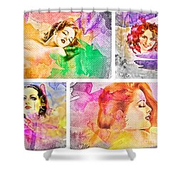 Woman's Soul Shower Curtain by Mo T
