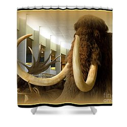 Wooly Mammoth Shower Curtain by Lainie Wrightson