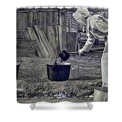 Working Girl Shower Curtain by Joann Vitali