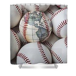 World Baseball Shower Curtain by Garry Gay