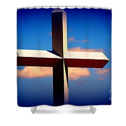 World Largest Cross In Illinois  Shower Curtain by Susanne Van Hulst