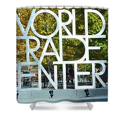 World Trade Center Shower Curtain by Kathleen Struckle