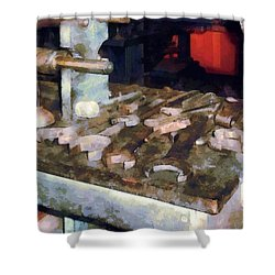 Wrenches And Oil Can Shower Curtain by Susan Savad