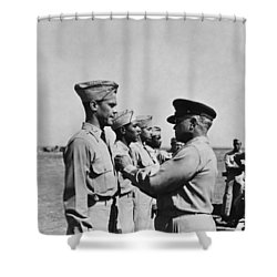 Wwii: Flying Cross Awards Shower Curtain by Granger
