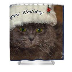 Yankee Cat Shower Curtain by Joann Vitali