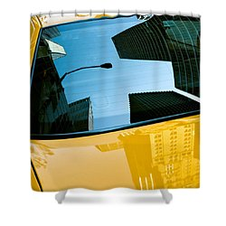 Yellow Cab Big Apple Shower Curtain by Dave Bowman
