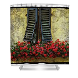 Yellow Wall Shower Curtain by Mauro Celotti
