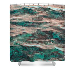 Yellowstone Abstract Shower Curtain by Cindy Lee Longhini