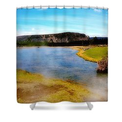Yellowstone Landscape Shower Curtain by Ellen Heaverlo