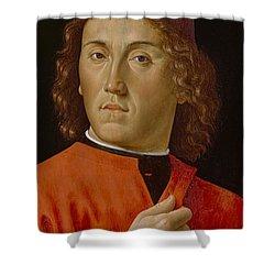 Young Man  Shower Curtain by Domenico Ghirlandaio