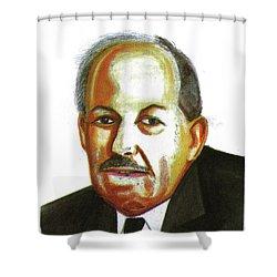Ype Schaaf Shower Curtain by Emmanuel Baliyanga