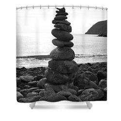 Zen Tower Shower Curtain by Ramona Johnston