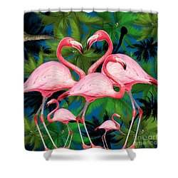 Flamingo Shower Curtain by Mark Ashkenazi