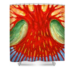 I Burn For You Shower Curtain by Wojtek Kowalski