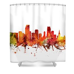 Miami Cityscape 04 Shower Curtain by Aged Pixel