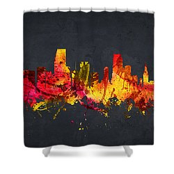 Miami Cityscape 07 Shower Curtain by Aged Pixel