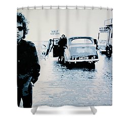 - No Direction Home - Shower Curtain by Luis Ludzska