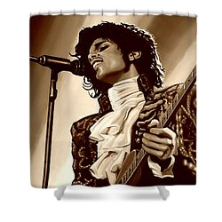 Prince The Artist Shower Curtain by Paul Meijering