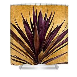 Purple Giant Dracaena Santa Fe Shower Curtain by John Hansen