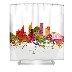 Sydney Australia Cityscape 08 Shower Curtain by Aged Pixel