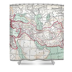 Map Of Macedonian Empire Shower Curtain by Granger