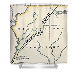Natchez Trace, 1816 Shower Curtain by Granger