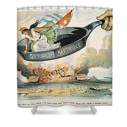 Spanish-american War, 1898 Shower Curtain by Granger