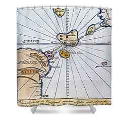 Traces Of Atlantis Shower Curtain by Granger