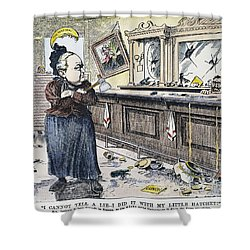 Carry Nation Cartoon, 1901 Shower Curtain by Granger