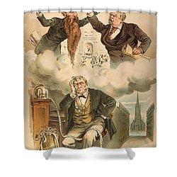Cartoon: Panic Of 1893 Shower Curtain by Granger