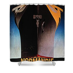 Steamship Normandie, C1935 Shower Curtain by Granger