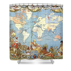 Map: British Empire, 1886 Shower Curtain by Granger
